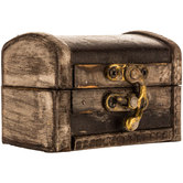 Extra Small Distressed Brown Trunk Box